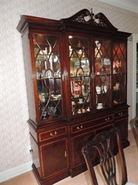 BUY IT NOW! this mahogany near mint condition dining room set includes lighted hutch, buffet, 8 chairs, table & leafs w/ pads. asking $6,995. ALL OFFERS ARE CONSIDERED,  owner wants sold.
