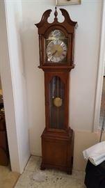 Colonial grandmother clock