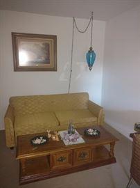 MCM Lamp and Sofa