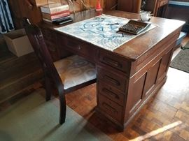 Vintage Two Sided Desk