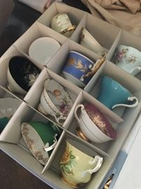 Collection of tea cups
