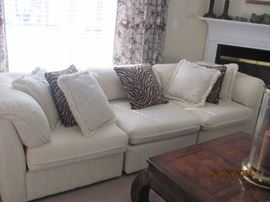 Ivory 12 piece sectional