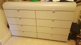 Dove grey 8 drawer dresser - $125