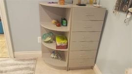 Dove grey 2 piece dresser - $100