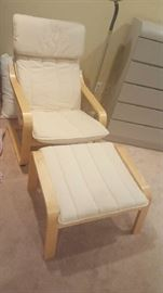 IKEA chair and footstool    $75