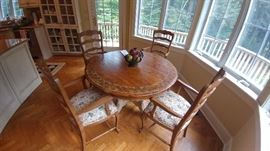 Painted Round Dinning Table & Chairs