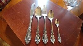 Wallace Grand Victorian Sterling Silver Flatware Set