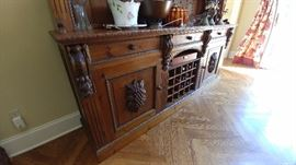 carved oak sideboard in perfect shape