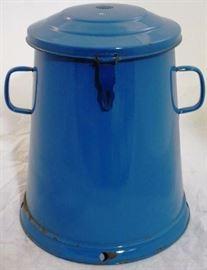 #4027 Enamel covered pot