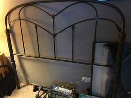 Wrought iron headboard