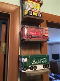 Marshall Field, Coca Cola and other Tin banks