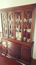 """China cabinet - approx. 53"""" Wide x  16"""" Deep x 75.25"""" Tall"""