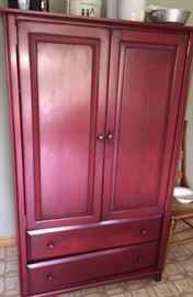 Lovely red painted cabinet