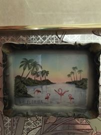 small flamingo souvenir tray