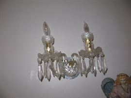 Saturday - 25% Off! Pair of two arm Waterford sconces