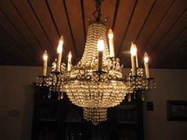 Saturday - 25% Off Huge Swarovski Empire Chandelier