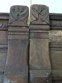 Carved detail on post office wall panels