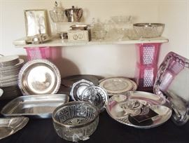 Entertaining - Silver Plate, Crystal, old glass
