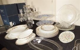 vintage china, glass, candles