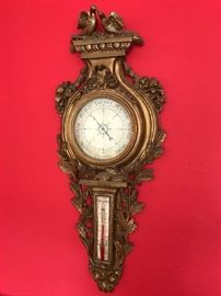 Antique Gold Leaf Barometer