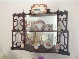 Vintage Mirrored Display $ 80.00