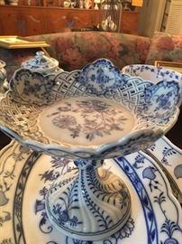 Meissen Blue & White Decorative Serving Pieces