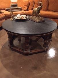 Mid Century Modern round coffee table $60