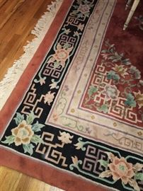 Vintage Chinese sculpted rug