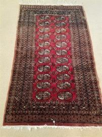 Handknotted Pakistan Rug - Nice colors. Good condition.