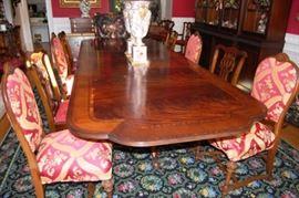 12 Mahagony Pedistal Dining Table