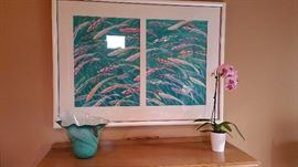 Hawaiian Fish diptych by David Ridgway, local Bellingham artist -- commissioned by the client