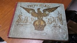 early 1900's stamp album