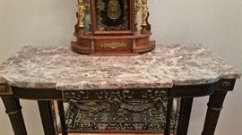 Marble top entry table still available