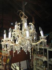 12 light Czechoslovakian crystal chandelier