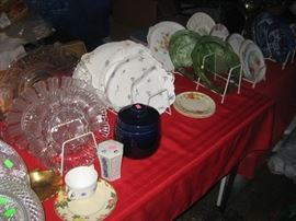 lots of china and glassware