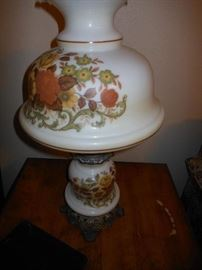One of 2 matching vintage lamps