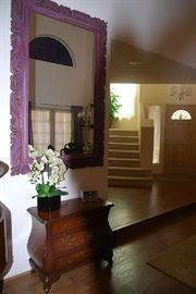 Wall Mirror (purple) and Bombay chest, decor