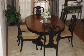 Stunning Formal Dining Set with 6 chairs