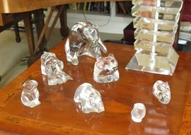 Selection of Baccarat and Lalique Animals
