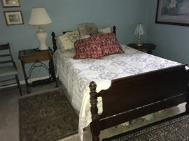 double mahogany bed