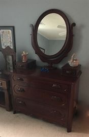 Davis cabinet, Lillian Russel dresser with mirror
