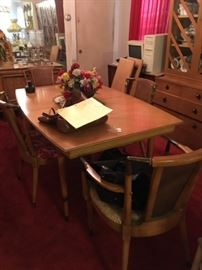Vintage Dining Room Table Set with Leaves