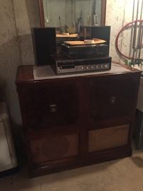 Pinterest project??? antique tv stereo cabinet