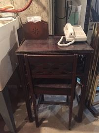 cute old phone table