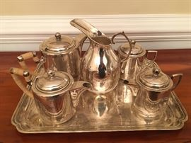 Gorgeous Sterling Silver Tea and Coffee Set from Cairo, Egypt!!!