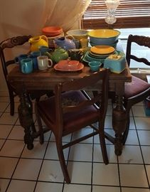 Fiesta and other pottery dinnerware