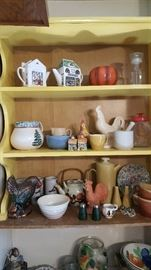 Roosters, teapots and misc