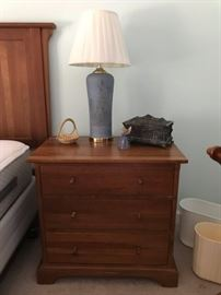 One of two Durham nightstands