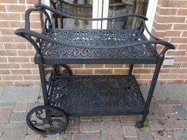 Matching outdoor bar cart