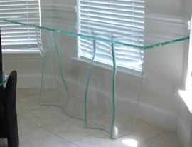 "Cantoni Starphire Glass ""Marina"" console table"